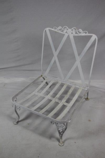 Have a question about this item? - Antique Wrought Iron Chair PATIO OUTDOOR Middlebury Consignment