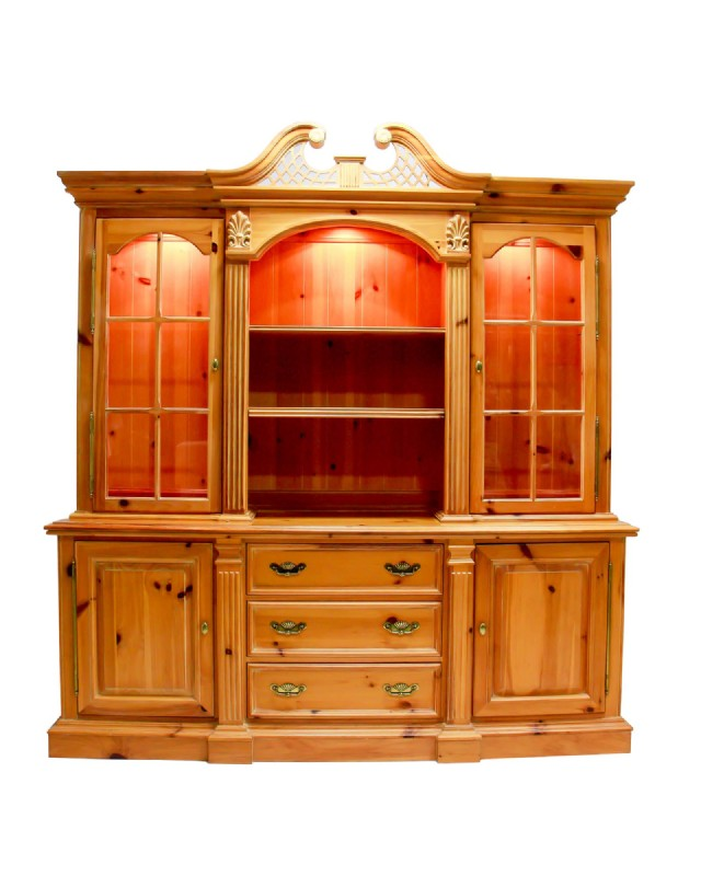 Link Taylor Pine Library Hutch Hutches Cabinets Middlebury