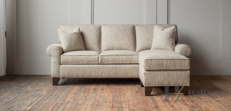 Three Cushion Sofa With Movable Chaise For Sale In Ct