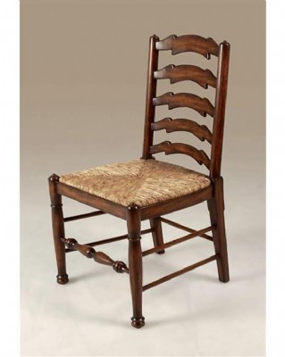 Umber Finished Mahogany Ladderback Side Chair