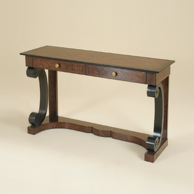 Black Finished Console Table