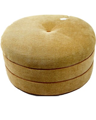 Gold Upholstered Ottoman