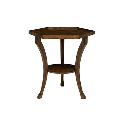 Hexagonal 2-Tier Occasional Table
