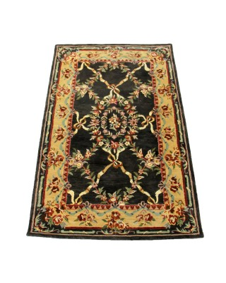 Heavenly Treasures New Age Black Gold Rug
