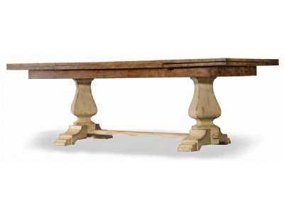 92in Rectangle Trestle Table w/2-20in Leaves