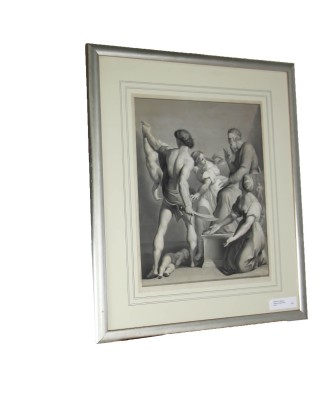 Framed Print Wisdom of Salomon Italian Engraving