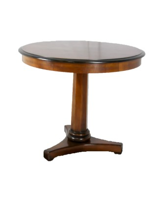 Lillian August Pedetal Round Side Table