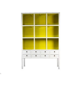 Lillian August Lime Green and White Cabinet