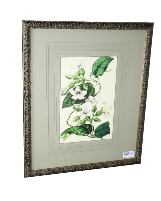 White Flower Print Custom Frame