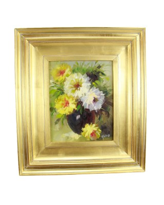 Vase Of Flowers On Canvas
