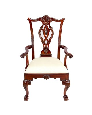 Set of 8 Mahogany Chippendale Dining Chairs
