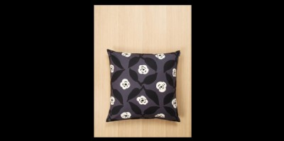 Poppy pillow cover grey & offwhite w cushion