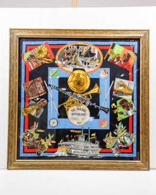 Hermes Silk Scarf New Orleans Creole Jazz