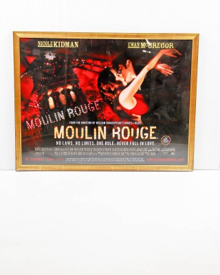 Framed Original Moulin Rouge Poster