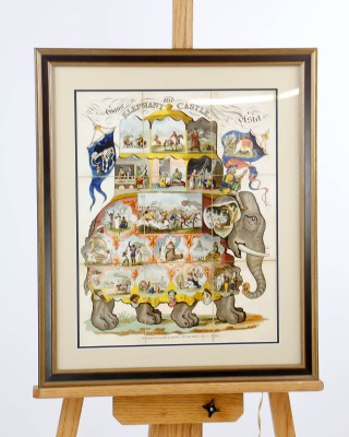 Framed Elephant and Castle Game Board
