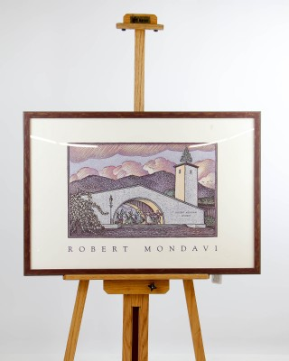 Robert Mondavi Vineyard Print on Canvas