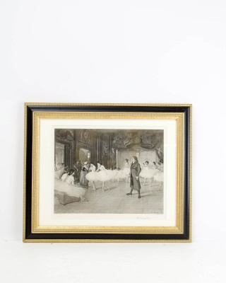 Print  Entitled The Dancing Lesson