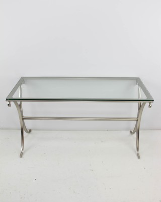 Modern Brushed Nickel Console Table