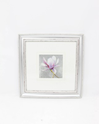 Floral Print in Silver Frame