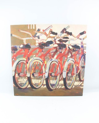 Modern Abstract Cruiser Bicycles Print