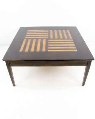 Inlaid Patterned Cocktail Table