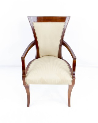 Curved Back Deco Style Arm Chair