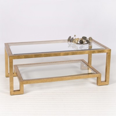 Gold Two Tiered Coffee Table