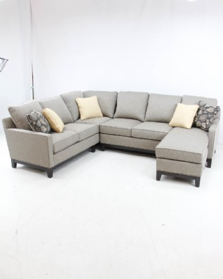 Hallagan sectional in revloution fabric