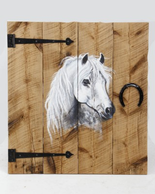 Horse Painting on Reclaimed Barn Wood