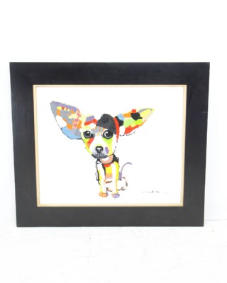 Chihuahua in Beret Painting