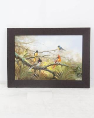 Painting of Bird Family