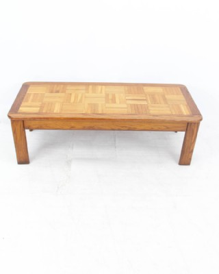Butcher-Block Patterned Coffee Table
