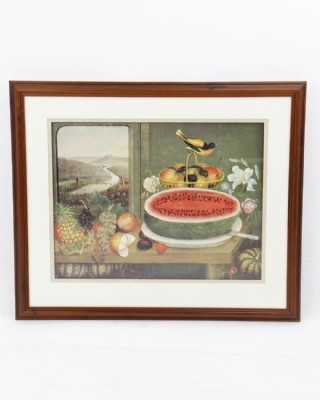 Fruit and Goldfinch Framed Print