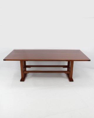 Solid Oak Trestle Dining Table