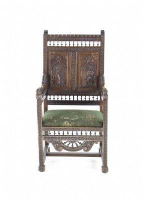 18th Century German Carved Great Chair