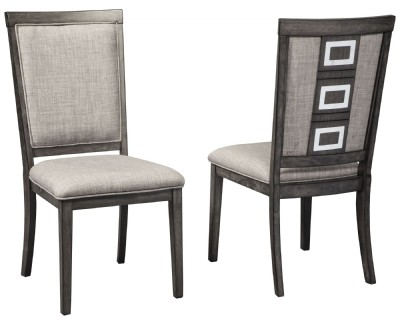 Chadoni Gray Upholstered Side Chair