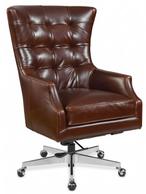 Tall Brown Leather Home Office Chair