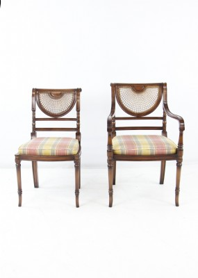 Smith & Watson Mahogany and Cane Dining Chairs