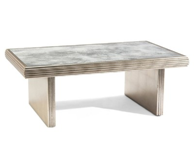 Rivoli Distressed Silver Cocktail Table