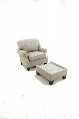 Java Upholstered Scoop Arm Chair