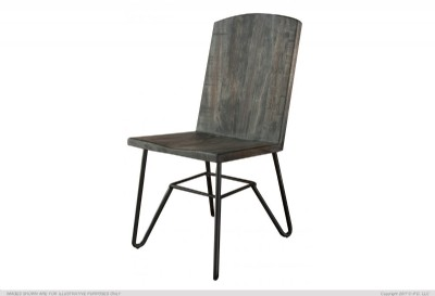 Rustic Iron Base Dining Chair