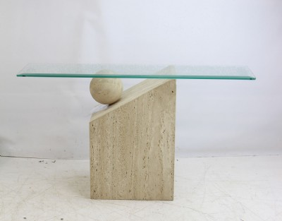 Marble & Glass Console Table
