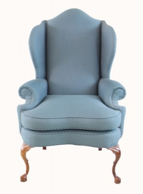 Forest Green Wing Back Chair