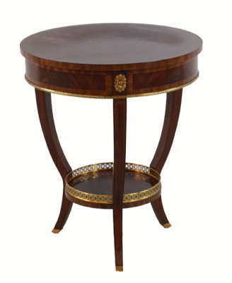 Gold Trim Accent Table (Priced As Is)