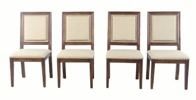 Set of 4 Nailhead Dining Chairs