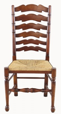 Set of Four Laddererback Rush Seat Chairs