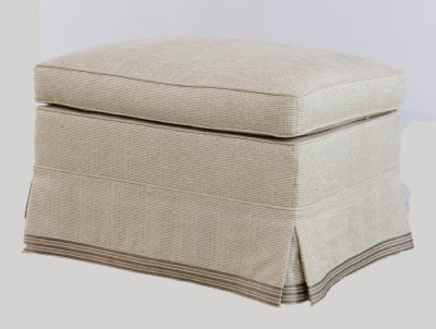 Upholstered Ottoman on Wheels