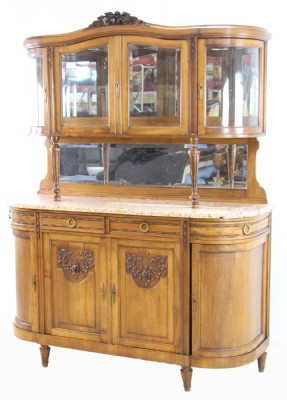 Marble Topped Two Tiered Sideboard