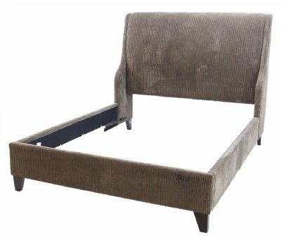 Olive Corduoroy Queen Bed