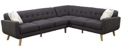 2 PC SECTIONAL / CHARCOAL